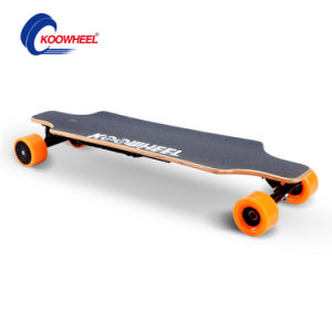 Dual Hub Motor 4 Wheels Electric Moterized Longboard Skateboard with Remote Control Koowheel pictures & photos