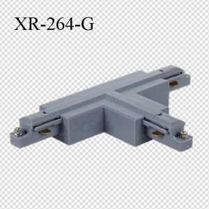 PC Material 2 Wires LED Lighting Track T-Shape Connector (XR-264)