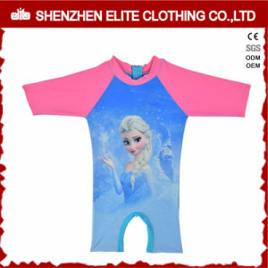 Newest Designs Girls Fancy Pink Rash Guards One Piece (ELTRGI-52) pictures & photos