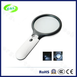 Round Hand Held Portable Pullout Illuminated LED Jeweler Magnifier pictures & photos