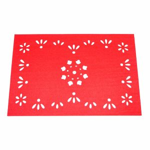 3mm & 5mm Promotional 100% Polyester Placemat for Tabletop and Christmas Decorations