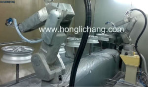 Aluminium Wheel Hub Robotic Spray Coating Plant pictures & photos