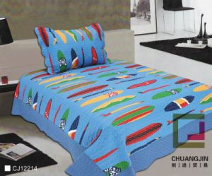 Printed 100% Polyester or Cotton Childred Quilt Set (BEDDING SET)