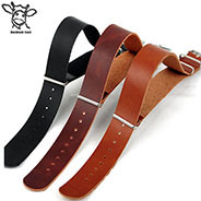 Handmade Band 18mm 20mm 22mm Europe Fashion Genuine Calf Leather Zulu Changeable Watch Strap