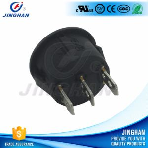 High Quality Mini 3 Way Round Rocker Switch on-off-on pictures & photos