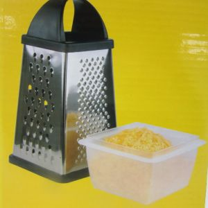 4 in 1 Stainless Steel Houseware Vegetable Grater with Foodcontainer pictures & photos