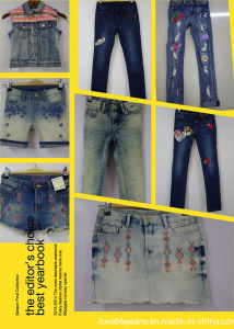 Girls Slim Jeans Wholesale (GT002) pictures & photos