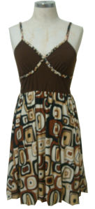 Ladies′ Knitted Printing Dress (1583)