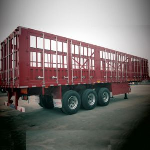 Heavy Duty 70t Payload Stake Semi Trailer for Forwarder