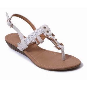 4f7fa2ee6458d China Beautiful Summer Lady Women Flat Heel Women Sandals Shoes ...