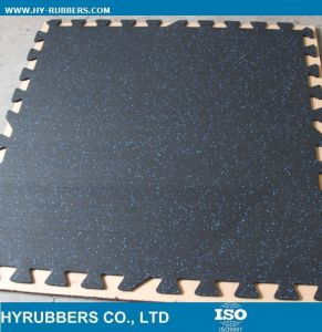 Colorful Square Gym Rubber Floor, Rubber Floor Roll, Interlock Rubber Tile pictures & photos