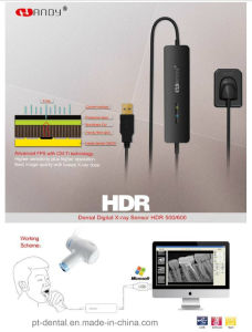 HD Efficient Multi-Users Easy to Operate CMOS Digital Dental X-ray Sensor (HDR500/600)