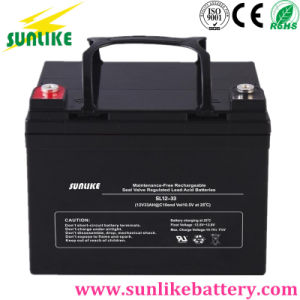 Lead Acid AGM Power 12V33ah Rechargeable UPS Battery for Solar