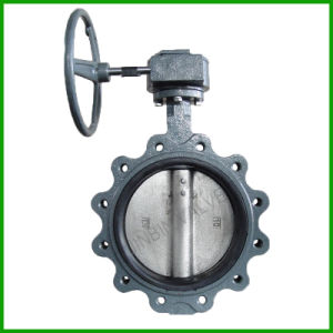 Cast Iron Lug Type Rubber Seal Butterfly Valve with Pin