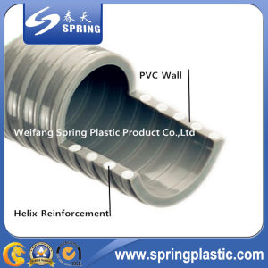 PVC Plastic Reinforced Spiral Suction Powder Water Garden Pipe Hose with Good Quality pictures & photos