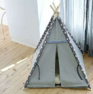 Foldable Indoor Wooden House Indian Tent for Pet Dog Cat