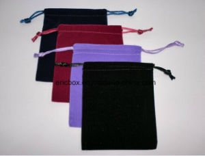 Jy-Vp14 Custom Size Black Velvet Jewelry Pouch Bag pictures & photos