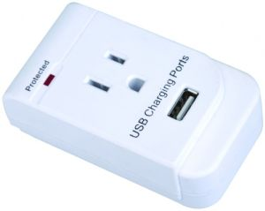 La-1s Surge Protected Grounding Adapter with USB Port
