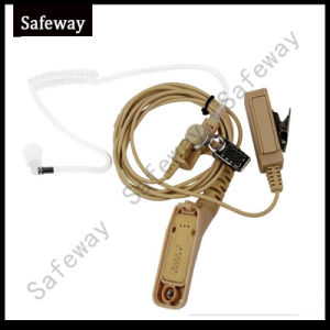 Beige Walkie Talkie Acoustic Tube Headset for Motorola P8268 pictures & photos