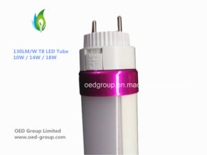 130lm/W T8 10W LED Tube Lighting 1300lm 2835SMD pictures & photos