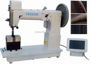 Heavy Duty Post Bed Thick Thread Walking Foot Triple Feed Ornamental Stitching Sewing Machine pictures & photos