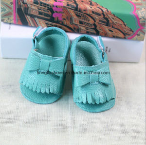 Leather Hook & Loop Baby Shoes 01