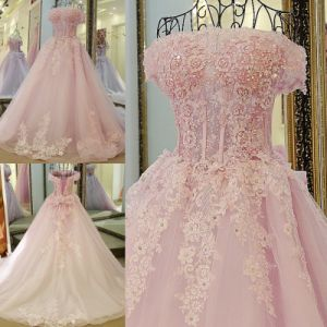 New Arrival Best Selling Floor Length A-Line Flowers Appliqued Top Elie Saab Wedding Dresses Prices (WD36)