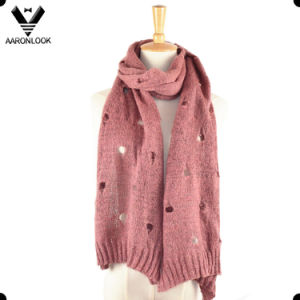 Lady Winter Mohair Knitting Hole Scarf