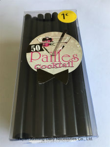 5′′ Super Jumbo Straight Straws, PVC Box Package Cocktail Straws pictures & photos