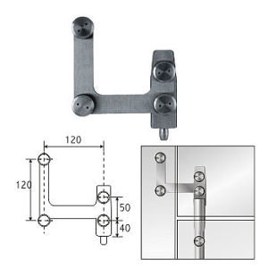 Glass Swing Door Fitting Pivot Hinge (KL-DP602)