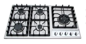 5 Burners Stainless Steel Gas Hob
