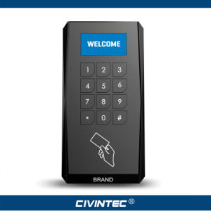 Crystal OLED Display NFC & 13.56MHz Versatile Smart Card Keyapd Reader with RS485 Osdp and Sams