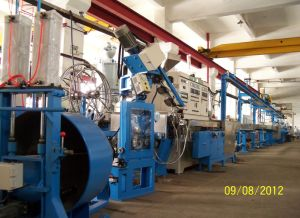 Wire Cable Extruder Extrusion Line Flshf Halogen Free Automotive House Building Wire