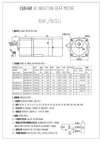 Micro AC Induction Gear Motor pictures & photos