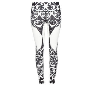New Design Full Dye Sublimation Women Lady Leggings Yoga Pants with Spandex pictures & photos