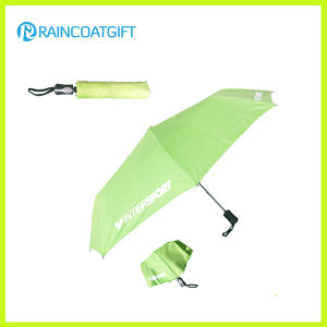 Promotion 21′′*8k Aluminum Shaft Printed Custom Folding Umbrella for Gift pictures & photos