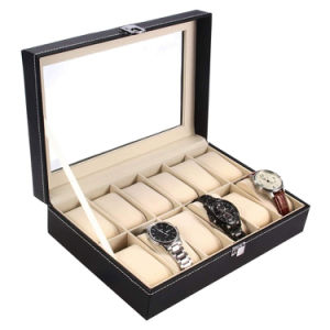 Custom Logo PU Watch Box Leather Gift Box Watch Organizer Watches Storage Caser