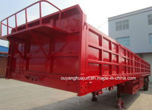 H: 80cm Plate Gooseneck Semitrailer with Side Wall