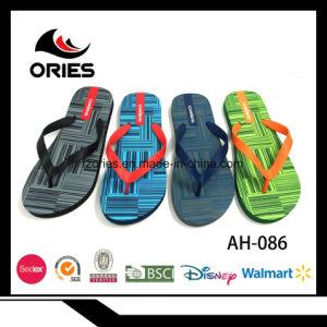 9989d1ea8246 2018 Wholesale Custom Fashion Cheap PE Sole Promotion Beach Slippers Printed  PVC Men Flip Flops