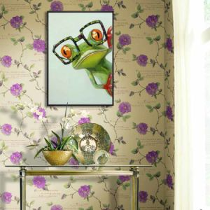 Cartoon Oil Painting On Canvas Abstract Animal Wall Art For Home Decoration Happy Frog With Glasses