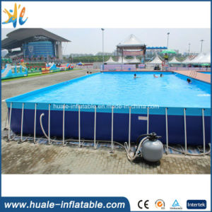 Customized Rectangular Metal Frame Pool Steel Plastic Swimming Water Pools