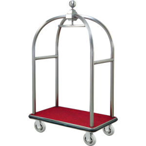 Red Carpet Foldable Hotel Luggage Cart pictures & photos