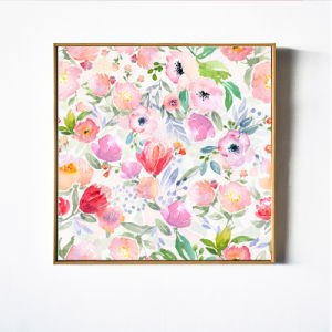 Pink Flowers Canvas Oil Painting
