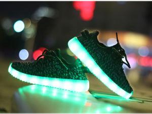 755ae6814 2016 Hot Fashion LED Shoes Unisex Man Women Yeezy Boost 560 Flyknit LED  Light Shoes