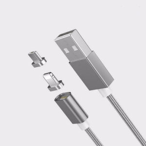 3 in 1 Nylon Insulated USB Charging and Data Cable for Iphohne, Samsung, Type C Mobile pictures & photos