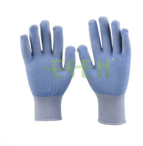 2017 High Quliaty Personal Safety Equipment New Working Gloves Work Used PVC Dotted Working Gloves From China