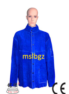 30 Inch Length Welding Jackets Leather Protective Clothing