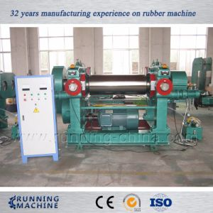 Two Roll Rubber Mixing Machine with Stock Blender pictures & photos