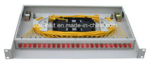 24 Port Rack Mounted Fixed Type Fiber Optic Patch Panel pictures & photos