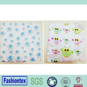 Super Soft Cotton Custom Pringting Muslin Handkerchief Wipe Infant Baby Face Towel pictures & photos